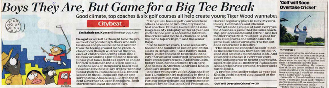 An Artilcale about Touche Golf in The Economic Times